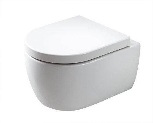 Bernstein Badshop Spülrandloses Wand-Hänge WC NANO NT2039 - inkl. Softclose-Deckel