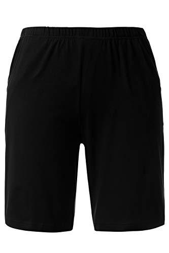 Ulla Popken Damen Jersey Shorts, Schwarz 10, 50 -