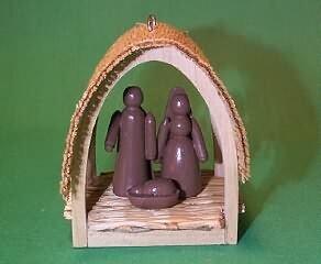 Hallmark Miniatur Krippe 1. in der Serie 1985 Ornament -