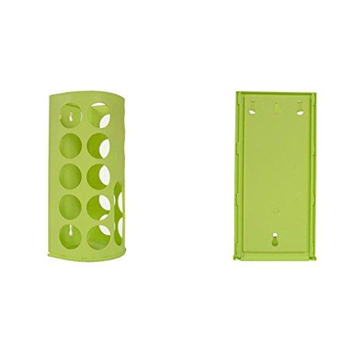 Ständer Aufbewahrung Garbage Bag Aufbewahrungsbox Kunststoff Garbage Bags Collection Box, grün (Box Vertikale Collection)