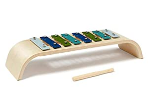 Kids Concept- Xilófono Azul Juguetes con Sonido Cajas de música Bebés y Primera Infancia Unisex, Multicolor (1000430)