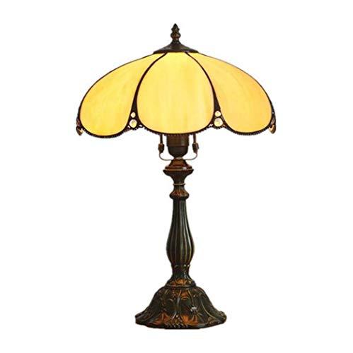 WJMLS Tiffany Style Lesetisch neben Lampe Licht breite Tulpe Blume Glasmalerei Schatten Schreibtisch Antik for Freundin Wohnzimmer Schlafzimmer (Color : C) -