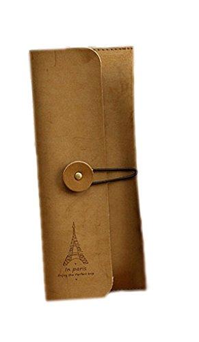 La vogue Regalos Estuche Escolar Bolsillos Para Lápices Retro 9*21cm (Color 2)