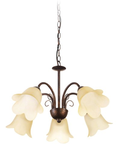 Philips 36995/43/86 8-Watt myLiving Suspension Light (Brown and Aluminium)