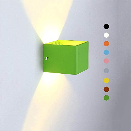 7 Watt LED Wandleuchten, Nordic Iron Kinder Beleuchtung Kleine Hängelampe Wandleuchte Kreative Korridor Studie Augenschutz Lesen Wandleuchte (Color : Green)