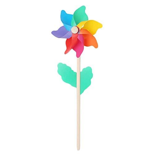 Uteruik Windrad Windmühle Dekoration Party Garten Windrad Taube Vogelschreck Maulwürfe 14 cm 1 Stück DER#5 | Garten > Dekoration > Windräder | Uteruik
