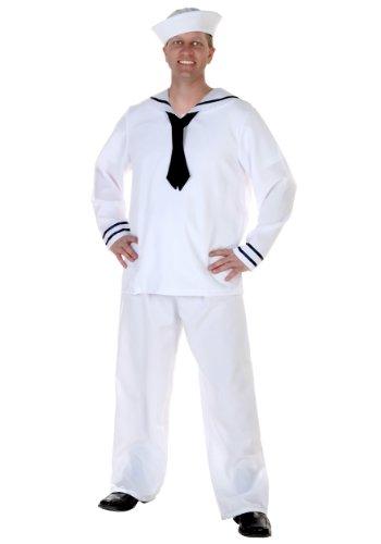 Plus Size Men's Sailor Fancy dress costume (Plus Sailor Size Dress Fancy)