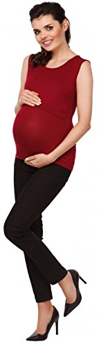 Zeta Ville - Top de grossesse ras du cou - couches d'allaitement - femme - 997c Cramoisi