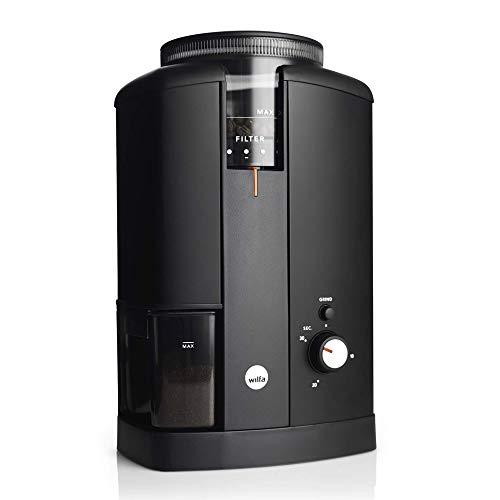 Wilfa Svart - Molinillo de café eléctrico (Acero Inoxidable, 40 mm, 34 Grados de molido)