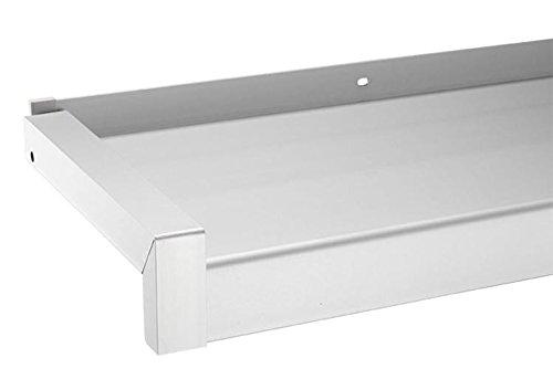 Fensterbank Gleitabschluss Design Ausladung 50-400 mm WEISS ANTHRAZIT SILBER - Alu Fensterbank