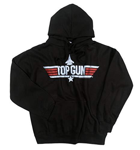 TruffleShuffle Mens Black Top Gun Maverick Hoodie -
