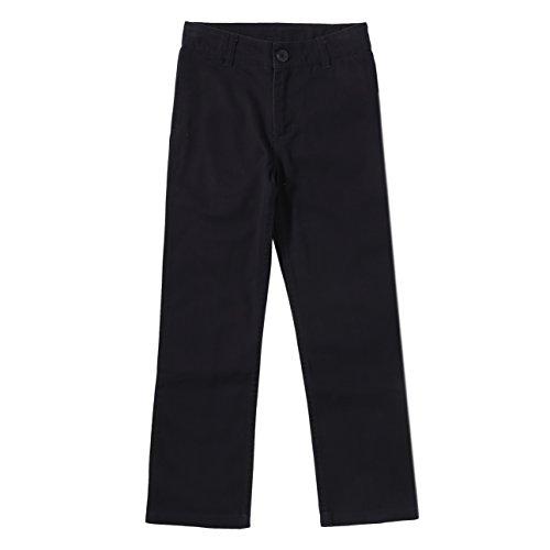 Bienzoe Jungen Baumwolle Einstellbare Taille Hosen Schwarz Größe - Schuluniform Kostüm Junge