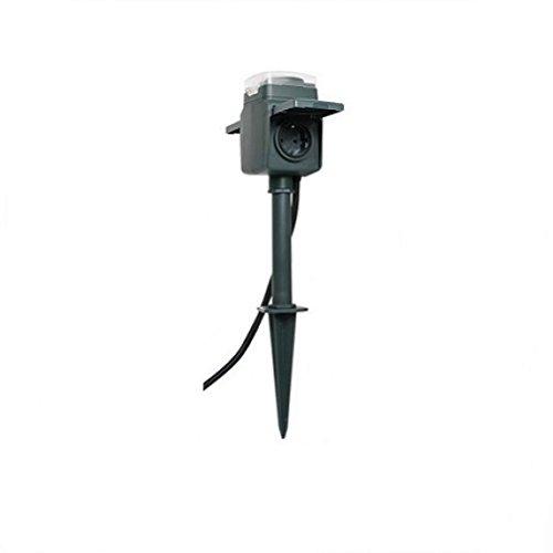 REV Ritter 0595008555 Erdspieß mit Steckdose, 2-fach, und mechanischer Zeitschaltuhr