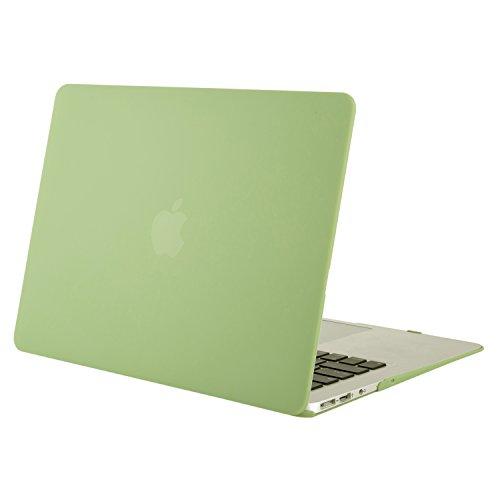MOSISO MacBook Air 13 Hülle - Ultra Slim Hochwertige Plastik Hartschale Schutzhülle Shell Case für MacBook Air 13 Zoll (A1369 / A1466, 2010-2017 Version), Chartreuse