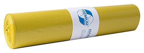DEISS PREMIUM 13704 - Bolsas para residuos, 70 l, rollo de 25, color amarillo
