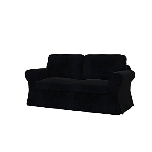 Soferia - Ikea EKTORP Fodera per Divano Letto a 2 posti, Eco Leather Black