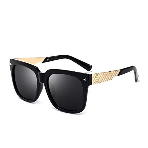 Shiduoli Quadratische Sonnenbrille Polarized Retro Klassische Trendy Stilvolle Sonnenbrille für Männer Frauen, die Sonnenbrille Fahren: 100% UV-Blockierung (Color : A)