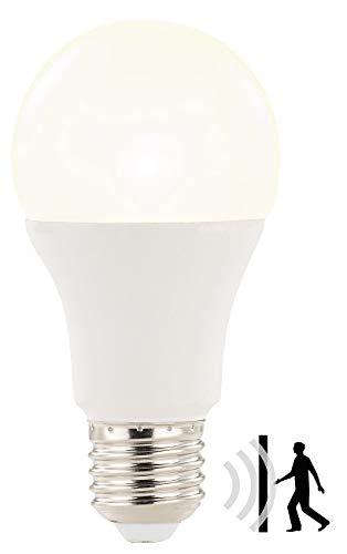 Luminea LED Birne E27: LED-Lampe mit Radar-Bewegungssensor, 12 W, E27, warmweiß, 3000 K (LED Birne Bewegungsmelder)