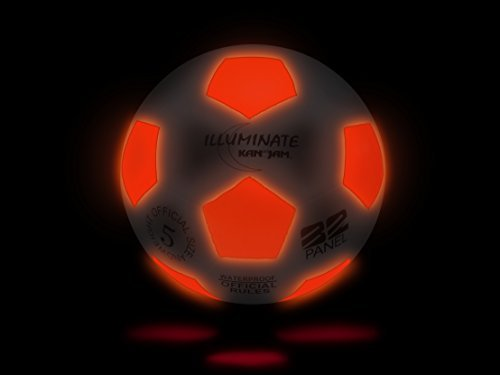 ltra-Bright LED Light-Up Glow Soccer Ball, Size 5 by Kan-Jam (Light Up Soccer Balls)