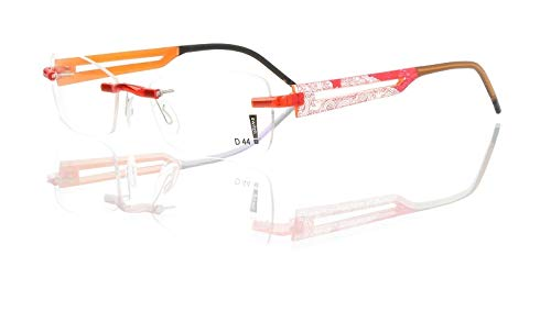 switch it Garnitur Combi 2364 Wechselbügel Montur in der Farbe Style braun, Druck weiß-rot-braun, innen orange-braun