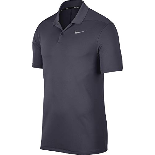 Nike Herren Men's Dry Victory Polo Solid Left Chest, Gridiron/Flight Silver, X-Large -