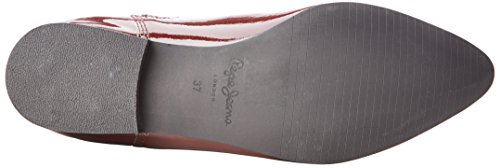 Pepe Jeans  Redford Mask,  Stivali Donna Rosso (Rouge (299Burgundy))