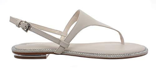 Michael Kors Scarpe Sandalo Donna Infradito Enid Thong Leather Lt Cream Nuovo