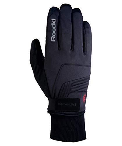 Roeckl Erwachsene Rebelva Handschuhe, Schwarz, 8