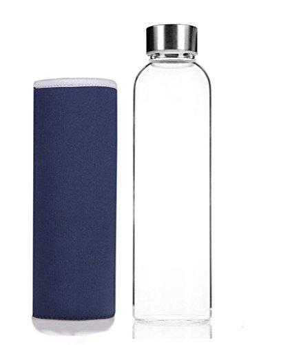 NYKKOLA - Elegante botella de cristal de alta calidad para agua con...