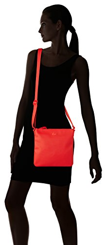 Lacoste NF2046WM, Borsa a Tracolla Donna, 25 x 2.5 x 26 cm RED ALTO RISCHIO (High Risk Red)