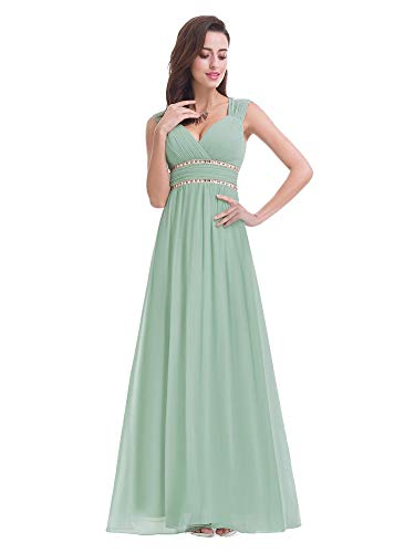 7c00a8dfcdf590 Ever-Pretty Vestido de Fiesta Noche Elegante con Cuello en V para Mujer 40  Verde