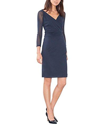 ESPRIT Collection 106EO1E018, Vestito Donna, Blu (Navy), 38 (Taglia Produttore: Medium)