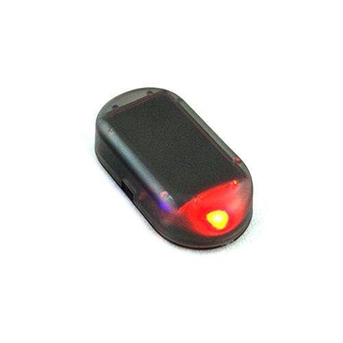 Hinmay Imitation alarme de voiture LED Système solaire d'avertissement, de sécurité anti-vol Lumière clignotante Rouge
