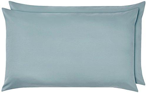 AmazonBasics - Funda de almohada de microfibra, 2 unidades, 50 x 80 cm - Azul claro