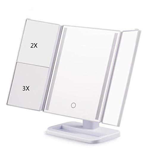 Lampe De Table Carrée De Miroir De Maquillage De LED Avec Des Lumières Loupe Pliable Beauté Maquillage Mirro