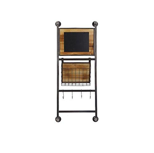 zhiwujua Racks, industrielle Schmiedeeisen, Wand Hand Speicher Körbe, dekorative Wand Zeitungen, Bücherregale, Vintage Wand Dekorationen Haken (Design : A) -