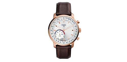 Fossil Hybrid Smartwatch – Q Goodwin Brown Leather Men's Watch (FTW1172)