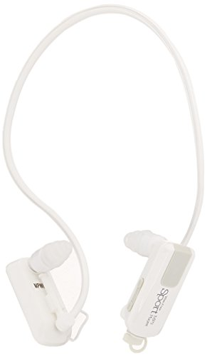 Impecca MPWH-82W Wire Free Sport Waterproof 8GB MP3 Player, White