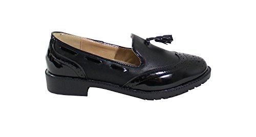 By Shoes - Chaussures À Lacets Noires Pour Femmes