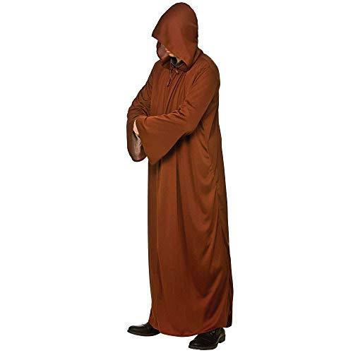 Brown Kostüm Hooded Robe - Hooded Robe - BROWN Adult Costume