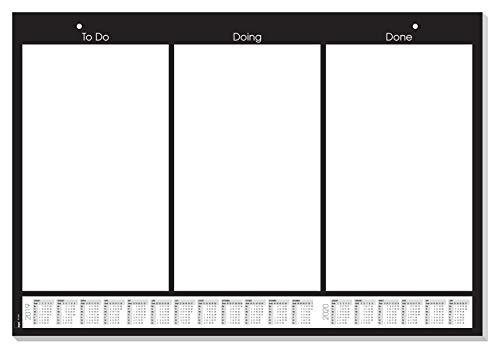 Sigel GmbH Sigel HO600 Papier-Schreibunterlage zum Abreißen mit Kalender, ca. DIN A2, 20 Blatt, für Kanban/Scrum, inkl. Gratis...
