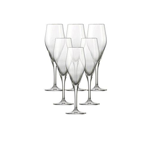 Schott Zwiesel 116486 Champagnerglas, Glas, transparent, 6 Einheiten