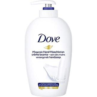 Dove Jabón para manos dispensador, con 1/4 de crema hidratante, Pack de 6 (6 x 250 ml)