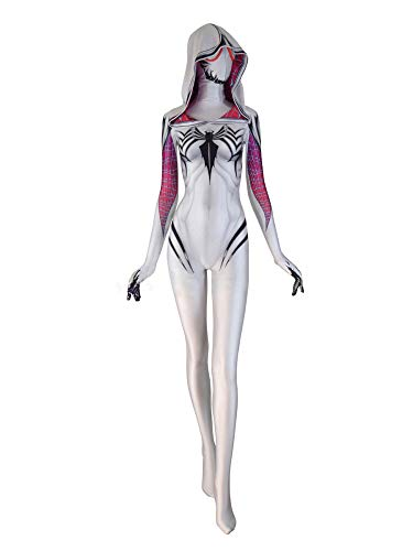 Kostüm Venom Damen - SHANGN Mottoparty Kostüm Für Erwachsene Kinderfilm Cosplay | Venom Superheld Spiderman Bodysuit,Lady-L