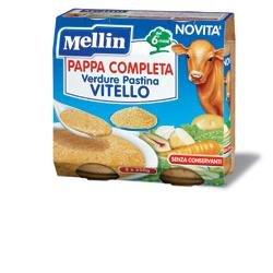 Mellin Pappa Completa al Vitello per Bambini, 6+ Mesi - 2 Vasetti da 250 gr - Totale 500 gr