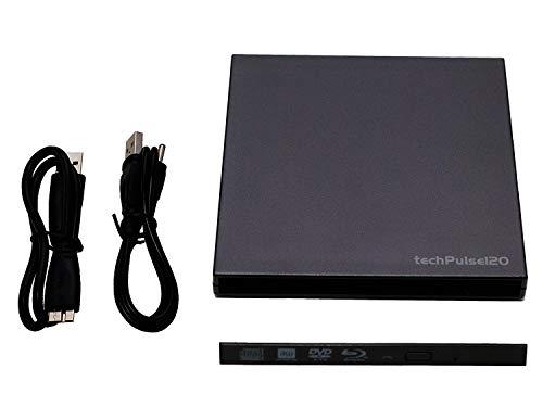 techPulse120 externes USB 3.0 Laufwerksgehäuse (Gehäuse ohne Laufwerk) Case Caddy für Slim 9,5 mm SATA Blu-Ray/DVD/CD Brenner Combo Laufwerke