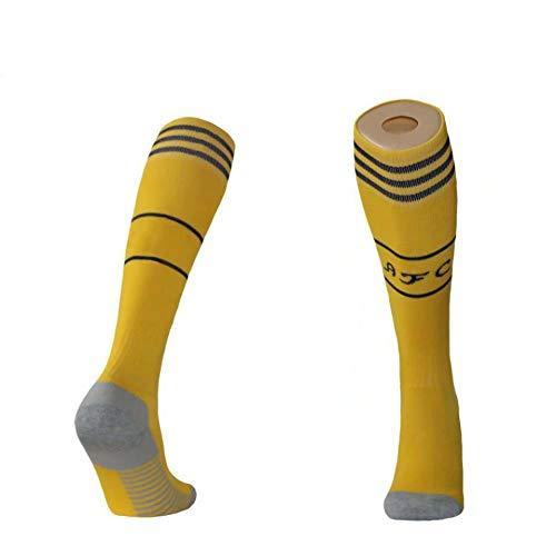 WENSISTAR Calzini e Cintura da Baseball,Calze da Calcio Antiscivolo Lunghe sopra Il Ginocchio per Lo Sport all'Aria Aperta @ Yellow_2XL,Cintura compressiva