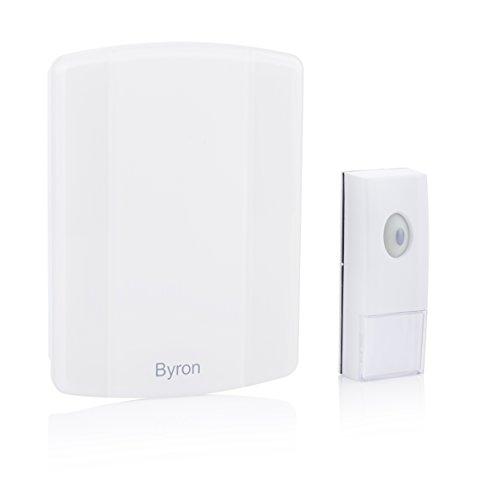 Preisvergleich Produktbild Byron Tragbare MP3 Funk Türklingel für individuelle Klingeltöne/ mit Blitzlicht