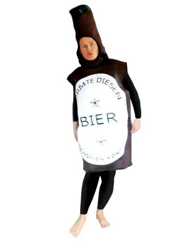 Bier-Flasche Kostüm, To48 Gr. M-L, Bierflasche-Kostüme Bierflaschen  Kostüme Erdbeere-Faschingskostüm, Fasching Karneval, Faschings-Kostüme, Geburtstags-Geschenk - Bier Motto Kostüm