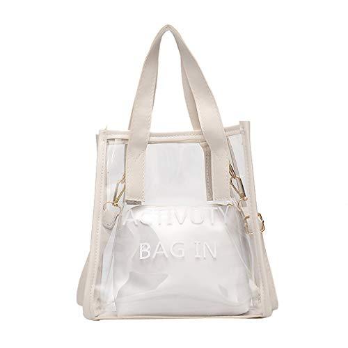 Ledertasche, Schultertasche, Geschenk, Handgefertigte Tasche,Art- und Weisedame Wild Single Shoulder Diagonal bewegliche transparente Tasche + Kupplung ()